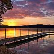 Sunrise On Keoka Lake Poster