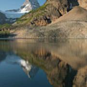 Sunrise On Mount Assiniboine In  Mount Poster