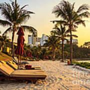 Sunset Holiday Poster by Niphon Chanthana