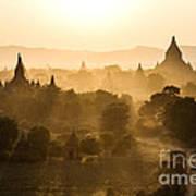 Sunset Over Bagan - Myanmar Poster