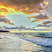 Sunset Over Lake Superior, Keweenaw Poster