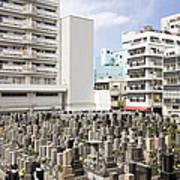 Super Dense Cemetery In Tokyo Poster