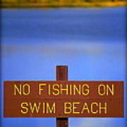 Swim Beach Sign II Poster