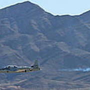 T-33 Shooting Star Flyby Nellis Poster
