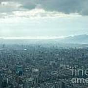 Taipei Under Heavy Clouds Poster