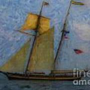 Tall Ship Sailing Poster