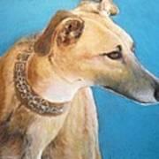 Tan Greyhound Poster