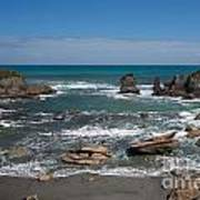 Tasman Sea At West Coast Of South Island Of Nz Poster