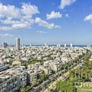 Tel Aviv Israel Elevated View Poster