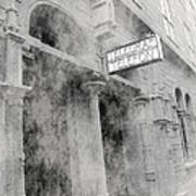 Telegraf Building In Foggy Oslo Poster