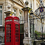 Telephone Box In London Poster by Elena Elisseeva