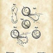 Tennis Ball Patent 1914 - Vintage Poster