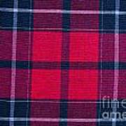 Texture Of Red-black Checkered Fabric  Poster