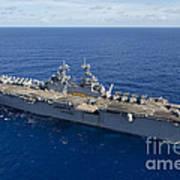 The Amphibious Assault Ship Uss Boxer Poster
