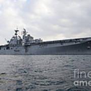 The Amphibious Assault Ship Uss Poster