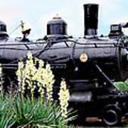 The Black Steam Engine Poster