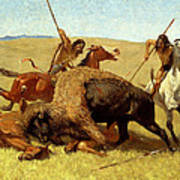The Buffalo Hunt Poster by Frederic Remington