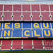 The Camp Nou Stadium In Barcelona Poster