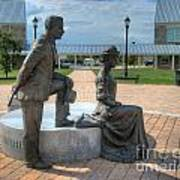 The Catherine And Milton Hershey Statue Poster