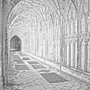 The Cloister In Gloucester Cathedral Poster