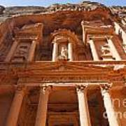 The Facade Of Al Khazneh In Petra Jordan Poster by Robert Preston