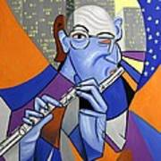 The Flutist Poster by Anthony Falbo