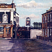 The Gun Public House Isle Of Dogs London Poster