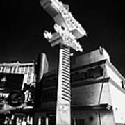 the harley davidson cafe on Las Vegas boulevard Nevada USA Poster