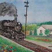The Hillsboro Local Passing My Birthplace At Sardinia Poster