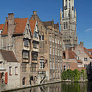 The Historic Center Of Bruges Poster