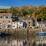 The Inner Harbour At Padstow Poster