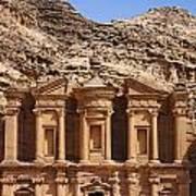 The Monastery At Petra In Jordan Poster