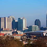 The Nashville Skyline As Viewed Poster