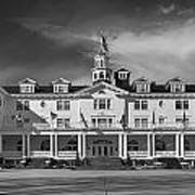 The Stanley Hotel Panorama Bw Poster
