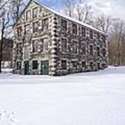 The Stone Mill At The Enfield Shaker Museum Poster