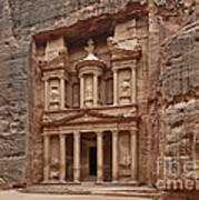 the treasury Nabataean ancient town Petra Poster