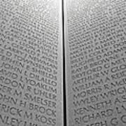 The Vietnam Memorial Wall Poster