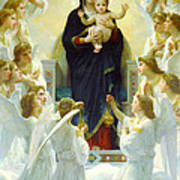 The Virgin With Angels Poster