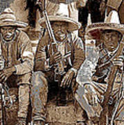 Three  Revolutionary Soldiers With Rifles Unknown Mexico Location Or Date-2014 Poster