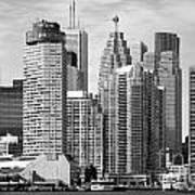 Toronto On Skyline Poster