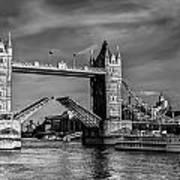 Tower Bridge Vintage Poster