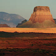 Tower Butte At Sunset, Glen Canyon Poster