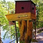 Tree House Boat Poster