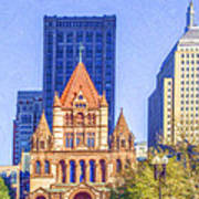 Trinity Church Boston Usa Poster
