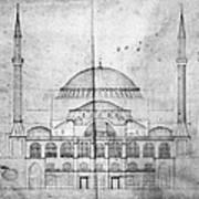 Turkey: Hagia Sophia, 1830s Poster
