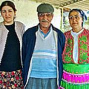 Turkish Family In Demircidere Koyu In Kozak-turkey  Poster