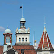 Turrets, Spires & Clock Tower, Historic Poster