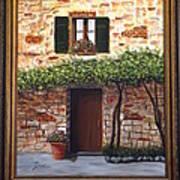 Tuscan Casa Montepulciano Poster