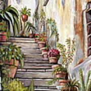Tuscan Steps Poster
