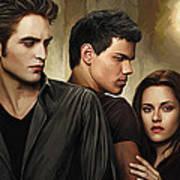Twilight  Kristen Stewart And Robert Pattinson Artwork 2 Poster